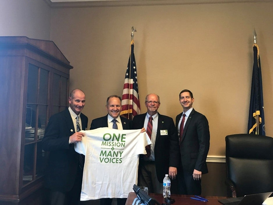 MAFC Director, Brian Boyd, PA Congressman Lloyd Smucker, and MAFC Director Dale Hershey with Kurt at the Hill visit this past July.