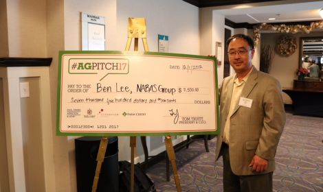 AgPitch finalist and winner Ben Lee, NABAS Group.