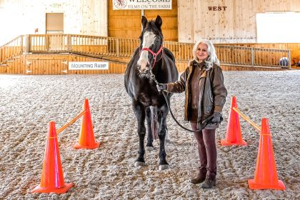 Joan Marie Twining, owner of Rose of Sharon Equestrian School